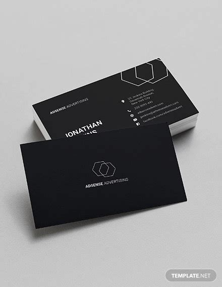 inspiring minimalist business card templates ai ms