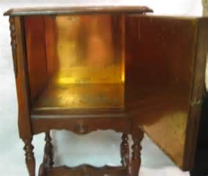 Antique Humidor Cabinet by Antique Copper Lined Cigar Humidor End Table Smoking Stand