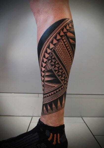 Lower Leg Tribal Tattoos