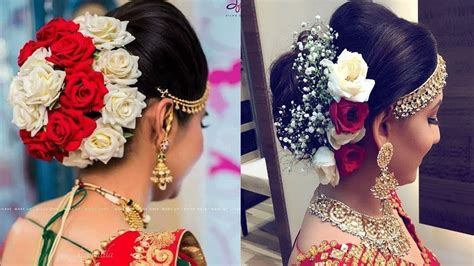 hairstyle indian bridal juda wavy haircut