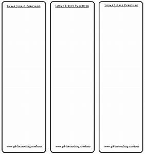 free printable bookmark templates blank calendar With bookmarkers template