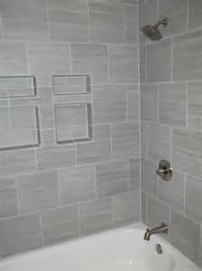 Gray Bathroom Tile Shower