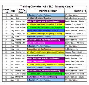 12 sample training calendar templates to download sample With training calendars templates