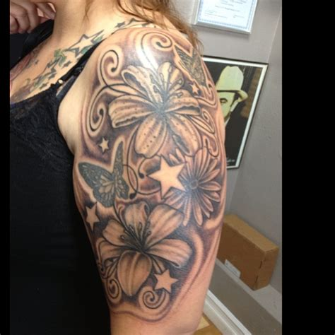 34+ Lily Flowers Tattoos On Arm