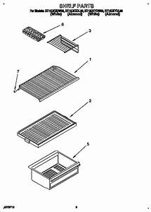 Shelf Diagram  U0026 Parts List For Model Rt12dkxdw00 Roper