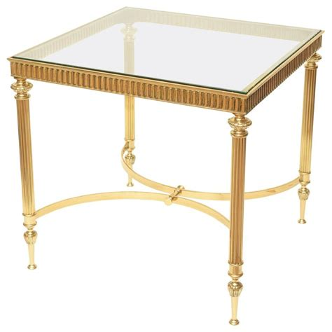 square brass side table square brass side table in the style of maison jansen for