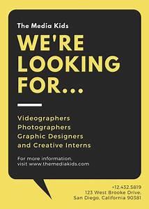 Yellow with Speech Bubble Job Vacancy Announcement ...