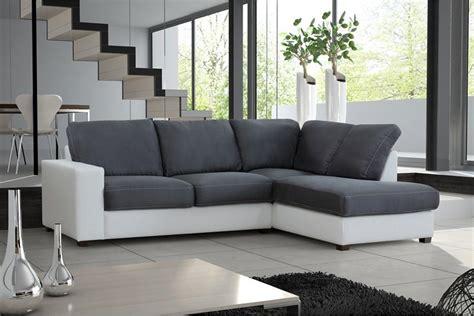 canape d angle blanc et gris photos canapé d 39 angle cuir gris et blanc