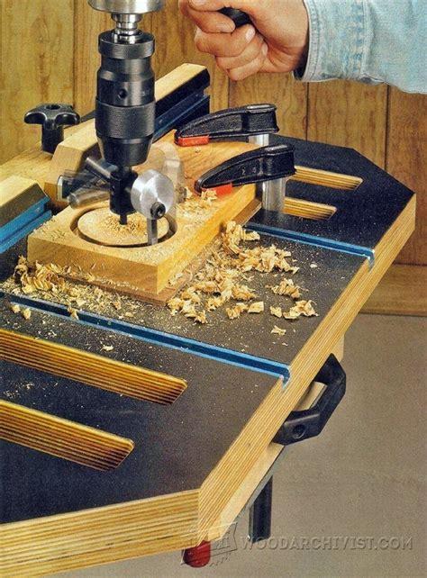 drill press table plans drill press tips jigs