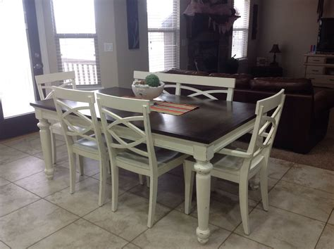 refinished kitchen table wood pinterest