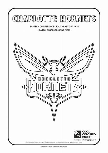 Coloring Nba Pages Logos Basketball Hornets Charlotte
