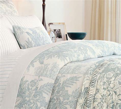 Matine Toile Duvet Cover & Sham, Dark Porcelain Blue