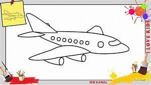 Bilder Zeichnen Für Anfänger : flugzeug zeichnen schritt f r schritt f r anf nger kinder zeichnen lernen 3 youtube ~ Frokenaadalensverden.com Haus und Dekorationen