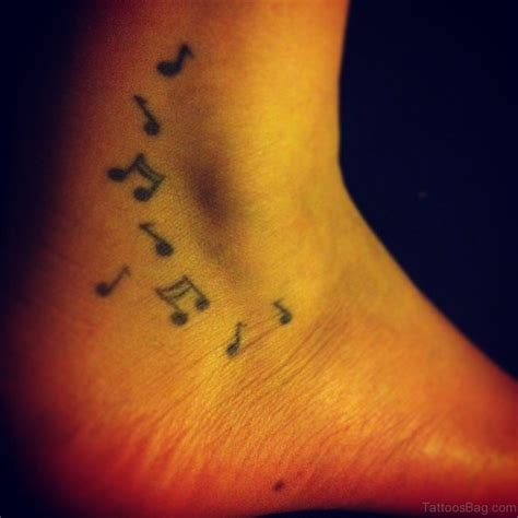 cute  notes tattoos  ankle