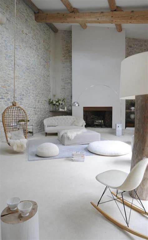 canapé suspendu loft cosy dans une ancienne usine deco fauteuil