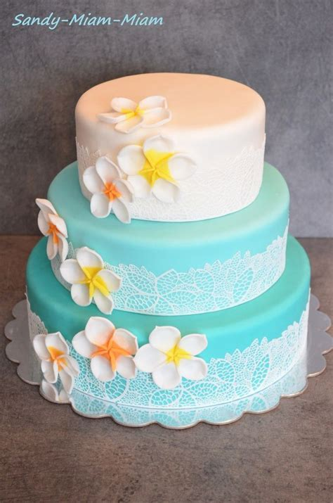 wedding cake theme lagon en  dessert tortas de