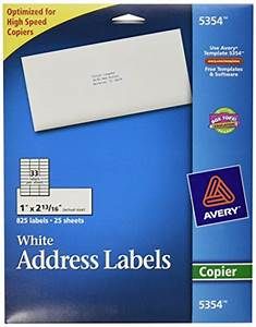 avery white mailing labels for copiers 1 x 281 inch With buy mailing labels