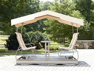 Outdoor Glider Bench With Canopy. Garden Oasis Grandview 4 ...