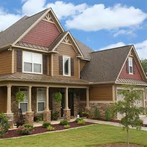 shingle house siding pictures hardie plank siding in chestnut brown and