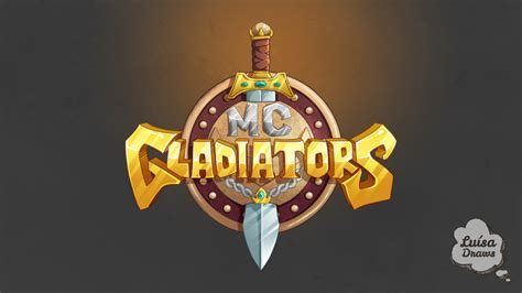 minecraft server logo mc gladiators  luisadraws
