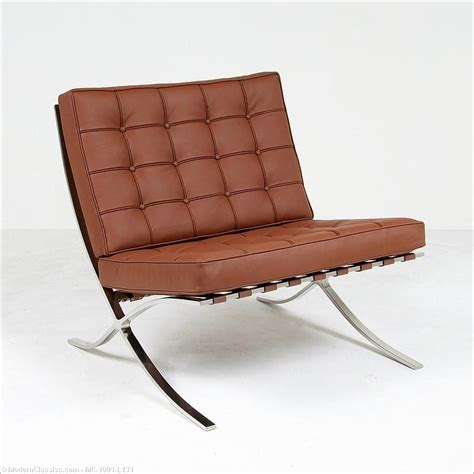barcelona chair cocoa brown leather mies der rohe