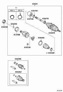 Toyota Rav4 Cv Joint Kit  Right  Front   Shaft Set  Outboard  Shaft  Drive Outboard