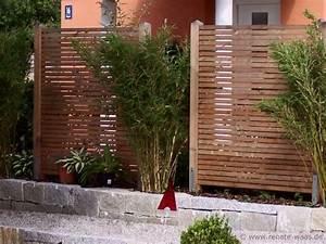 Sichtschutzelemente Aus Holz : sichtschutzelemente bambus mischung 600 450 pixel garten pinterest staudenbeet ~ Sanjose-hotels-ca.com Haus und Dekorationen