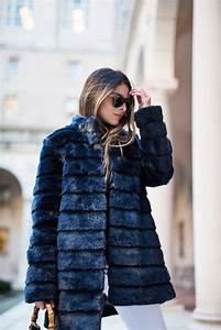 Navy Faux-Fur Coat | The Girl from Panama