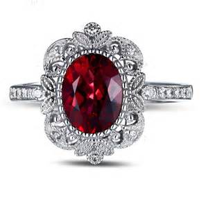 ruby engagement ring vintage 1 50 carat ruby and engagement ring in white gold for jeenjewels