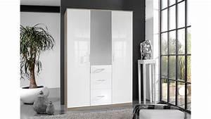Kleiderschrank Weiß Hochglanz Mit Spiegel : kleiderschrank clack hochglanz wei eiche mit spiegel 135 cm ~ Indierocktalk.com Haus und Dekorationen