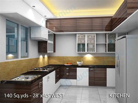2 Bhk Home Interior Design :  140 Sq Yds 28x45 Sq Ft West Face House 2bhk