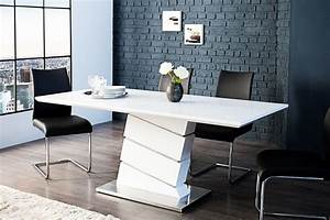 Table blanche design salle manger inspirations avec table for Table de salle a manger design avec rallonge