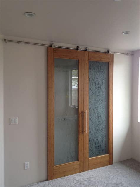 barn style closet doors bedroom contemporary  bamboo