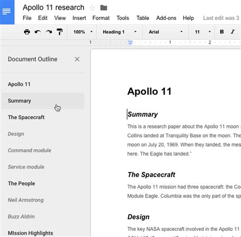 google docs outline what i find design and technology in education