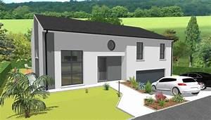 maison architecte moderne maison moderne accessible With wonderful plan maison 3d gratuit 15 maison de ville avec patio
