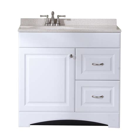 single sink bathroom vanity top shop style selections almeta white integrated single sink