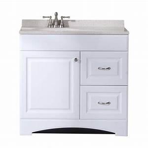 shop style selections almeta white integral single sink With 36 x 19 bathroom vanity