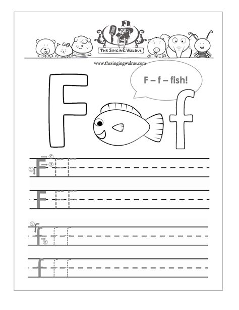 letter f for preschool worksheets letters of the