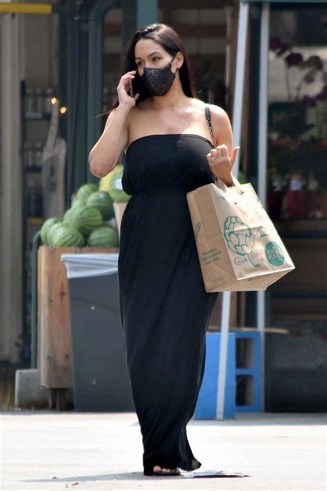 nikki bella seen wearing a black strapless dress during a ...