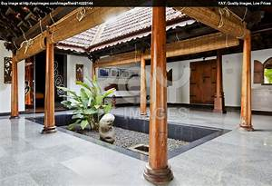 Beautiful courtyard of a traditional Indian home ...