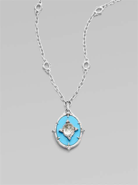 lyst judith ripka white sapphire turquoise sterling