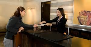 hotel front desk job whitevan