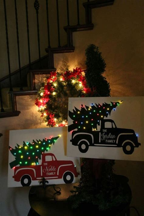 groopdealz personalized christmas truck  canvas