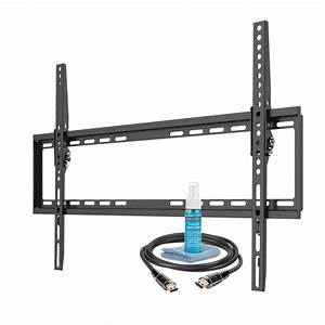 ematic full motion tv wall mount kit with hdmi cable for With tv mount wiring kit
