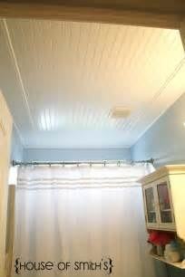 bathroom ceilings ideas beadboard ceiling in bathroom