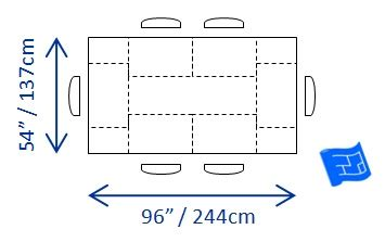 standard kitchen table size dining table size