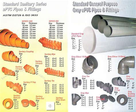 standard sanitary series upvc pipes  fittings standard