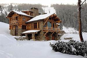 Lovely Rustic Cabin Designs with Mountain Home Sliding