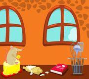 souris dans la cuisine une fille à l 39 intérieur de sa chambre à coucher