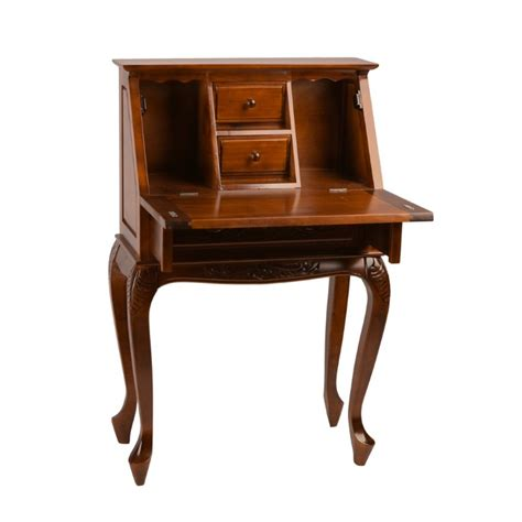 small secretarys desk small desk in dual walnut 3832